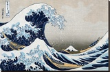 The Great Wave at Kanagawa (from 36 views of Mount Fuji), c.1829 キャンバスプリント : 葛飾・北斎
