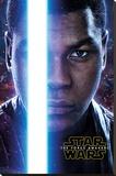 Star Wars The Force Awakens- Finn Teaser Trykk på strukket lerret
