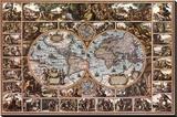 Magna Carta Mundi Bedruckte aufgespannte Leinwand