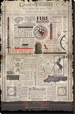 Game Of Thrones- Quotable Infographic Stretched Canvas Print