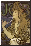 Job Stretched Canvas Print by Alphonse Mucha