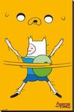 Adventure Time - Bro Hug Stretched Canvas Print