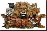 Great Cats Opspændt lærredstryk af Peter Kull