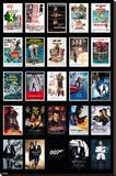James Bond- 24 Movies Stretched Canvas Print