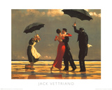 Le majordome chantant Affiche par Jack Vettriano