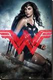 Batman Vs. Superman- Wonder Woman Solo Stretched Canvas Print