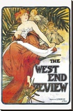 West End Review Stretched Canvas Print by Alphonse Mucha