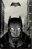 Batman vs. Superman- Armored Glare Stretched Canvas Print