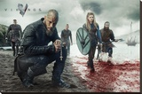 Vikings Blood Landscape Bedruckte aufgespannte Leinwand