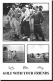 The Three Stooges Stretched Canvas Print