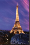 Eiffel Tower at Dusk Stretched Canvas Print