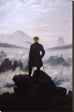 Wanderer Above the Sea of Fog Stretched Canvas Print by Caspar David Friedrich