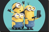 Minions- Selfie Stretched Canvas Print