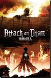 Attack on Titan Bedruckte aufgespannte Leinwand