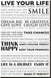 Vivi la vita Stampa su tela