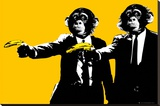 Monkeys - Bananas Stretched Canvas Print