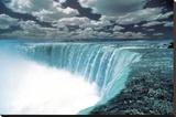 Niagara Falls (Color) Art Poster Print Opspændt lærredstryk