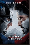 Captain America Civil War- Face Off Stretched Canvas Print