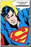 Superman (Looks Like A Job For) Impressão em tela esticada