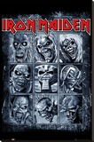 Iron Maiden- Eddies Collection Bedruckte aufgespannte Leinwand