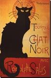 Theophile Steinlen Tournee du Chat Noir Avec Rodolphe Salis Art Print Poster Stretched Canvas Print