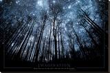 Immaginazione, guarda le stelle con gli occhi e tieni i piedi per terra, in inglese Stampa su tela