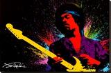 Jimi Hendrix Impressão em tela esticada