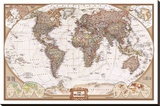 The World Map Stretched Canvas Print