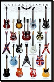 Guitar Heaven Stretched Canvas Print