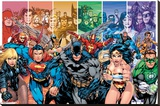 DC Comics Justice League Characters Stampa su tela