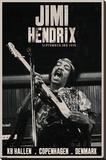 Jimi Hendrix - Copenhagen Kunst op gespannen canvas
