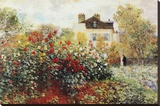 Claude Monet The Artist's Garden Art Print Poster Stretched Canvas Print