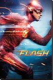The Flash- Feel The Speed Stretched Canvas Print