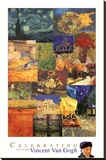 Vincent Van Gogh 150 Years Collage Art Print Poster Stretched Canvas Print