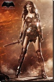 Batman vs. Superman- Wonder Woman Stretched Canvas Print