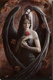 Angel Rose Stretched Canvas Print by Anne Stokes