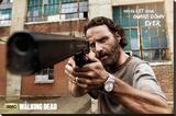 The Walking Dead Rick Gun Stretched Canvas Print