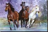 Correr / Footing Reproducción de lámina sobre lienzo por Bob Langrish