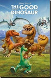 The Good Dinosaur- Cast Of Characters Stretched Canvas Print