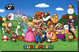 Super Mario - Characters Stretched Canvas Print