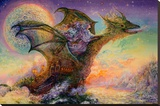 Dragon Ship Stretched Canvas Print by Josephine Wall