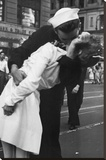 Kissing the War Goodbye Sailor and Nurse Art Poster Print Stretched Canvas Print