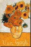 Les Tournesols Stretched Canvas Print by Vincent van Gogh