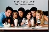 Friends - Milkshake Opspændt lærredstryk