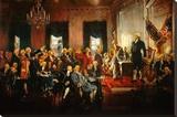 Scene at the Signing of the Constitution Trykk på strukket lerret av Howard Chandler Christy