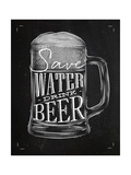 Poster Drink Beer Chalk Posters por  anna42f
