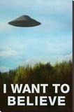 The X-Files I Want To Believe TV Poster Print Opspændt lærredstryk