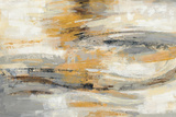 Golden Dust Crop Print by Silvia Vassileva