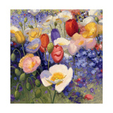 Tulips and Poppy Party Prints by Shirley Novak
