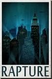 Rapture Retro Travel Poster Stampa su tela